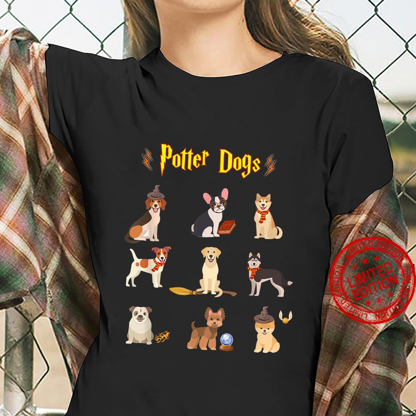 Potter Dogs Cute Potter Dog Shirt ladies tee