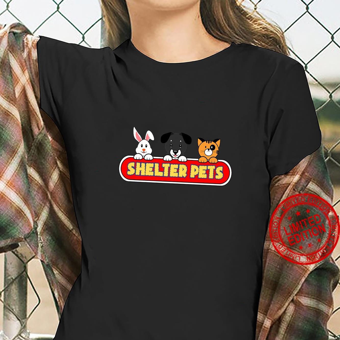 Shelter Pets for Dog Cat and Animal Rescues Adopt Don't Shop Shirt ladies tee