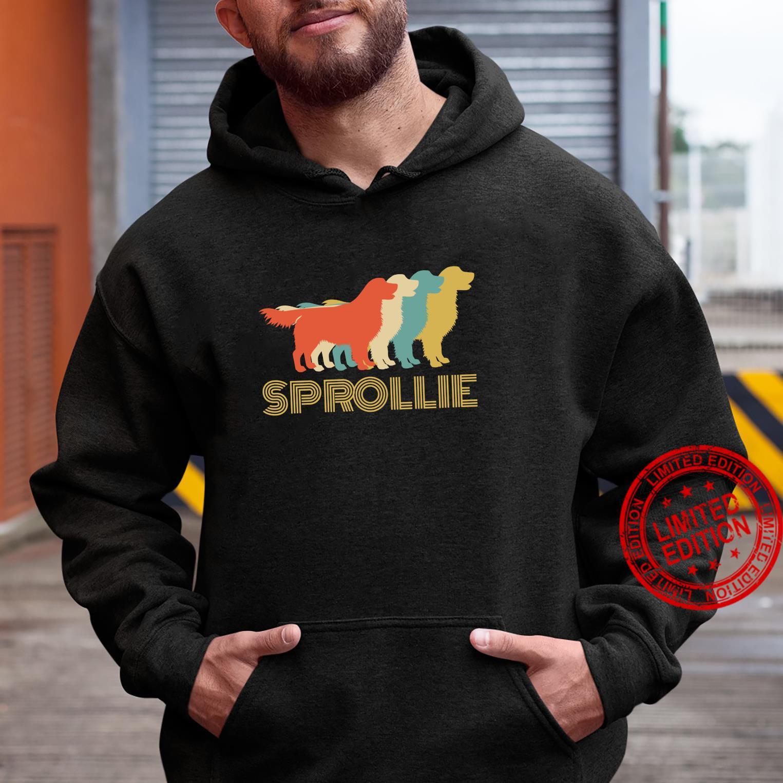 Sprollie Dog Cross Breed Vintage Look Silhouette Shirt hoodie