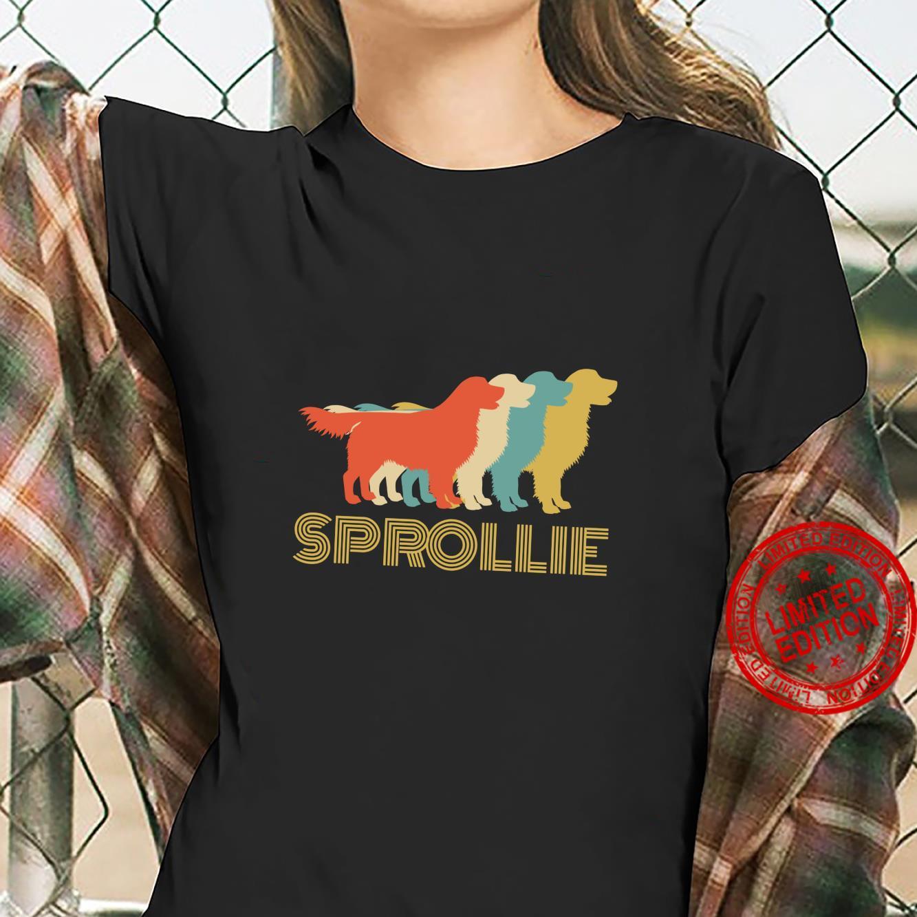 Sprollie Dog Cross Breed Vintage Look Silhouette Shirt ladies tee