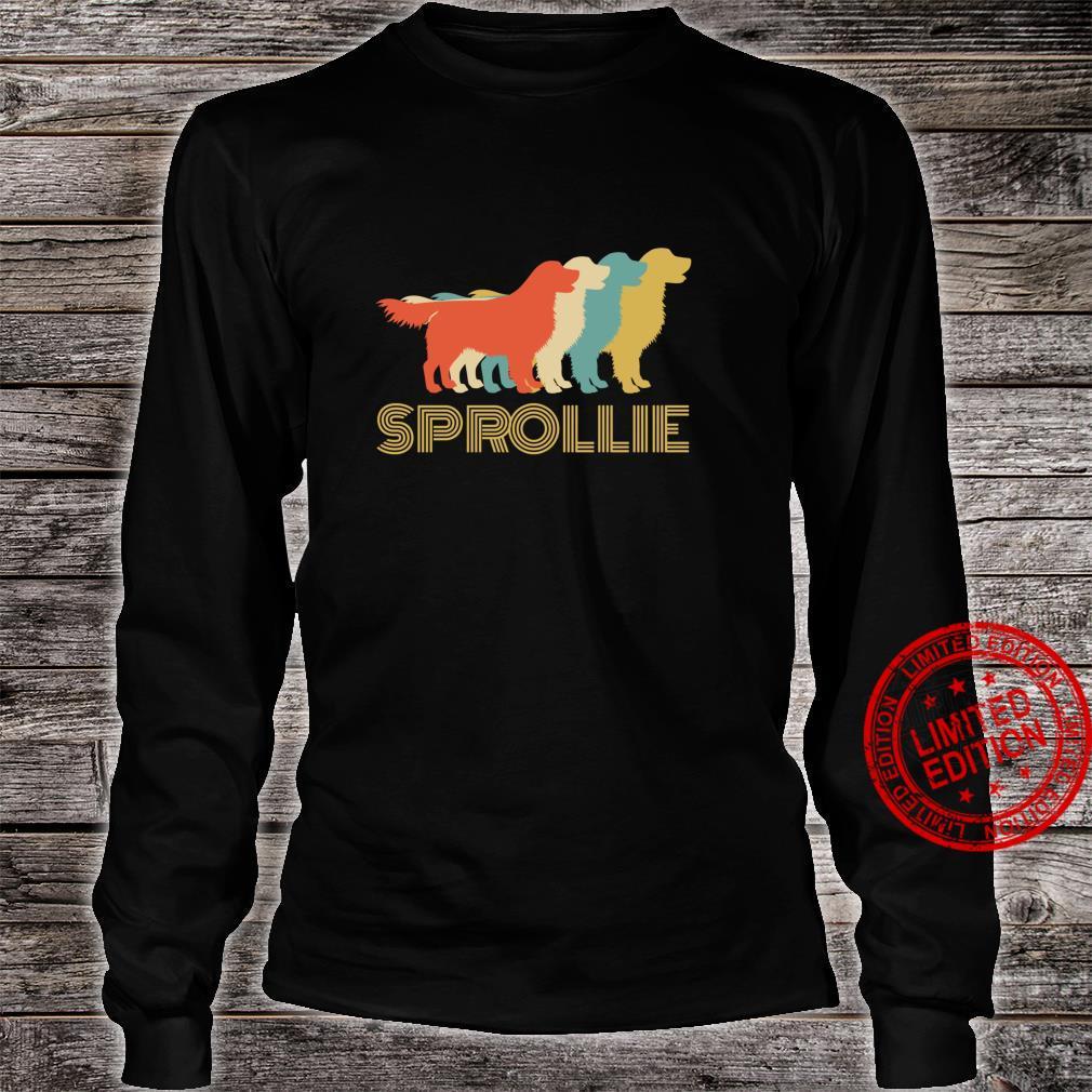 Sprollie Dog Cross Breed Vintage Look Silhouette Shirt long sleeved