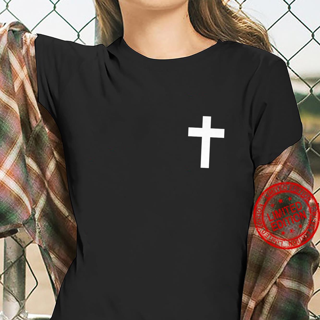 White Cross Jesus Christ Christianity God Christian Gospel Shirt ladies tee