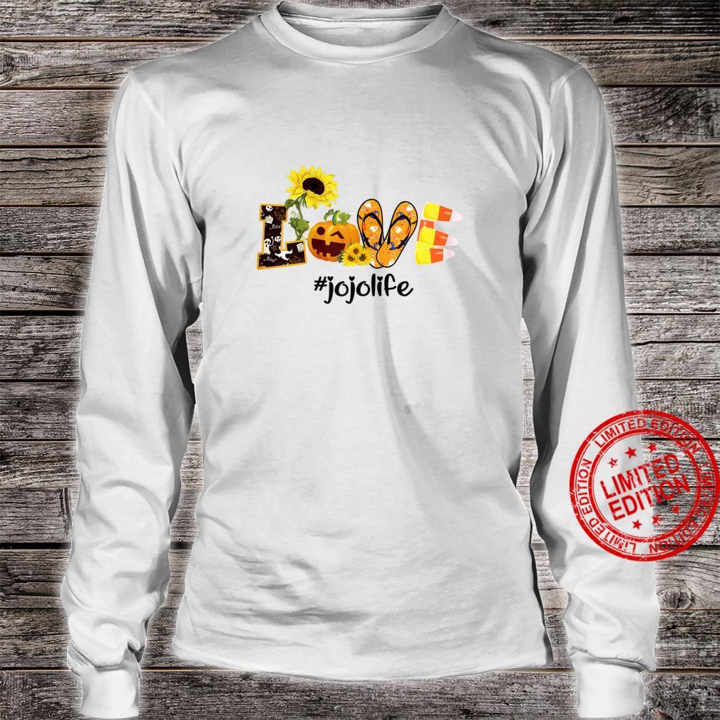 Womens Love jojo Life Sunflower Halloween shirt long sleeved