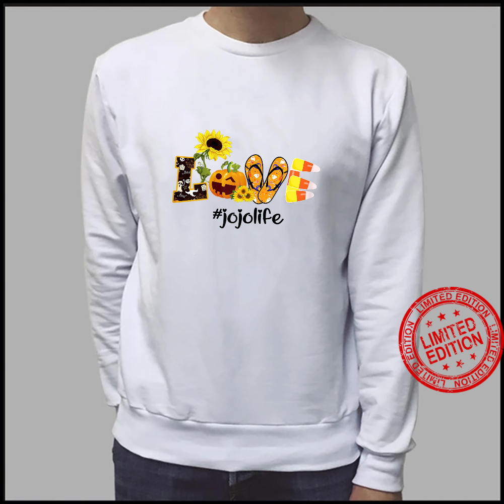 Womens Love jojo Life Sunflower Halloween shirt sweater