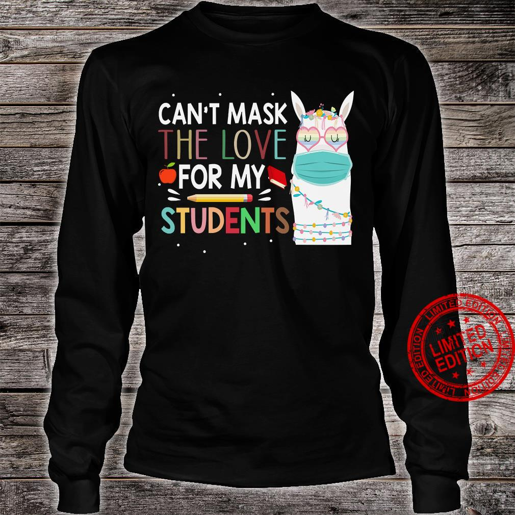 Can't Mask The Love For My Students Shirt long sleeved
